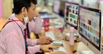 บรรยากาศ PLC : ASCS Digital Platform ของคุณครูทุกกลุ่มสาระ จัดเตรียมบทเรียน สื่อการสอน